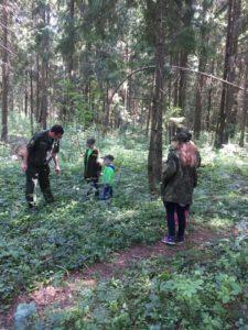 Наши дети г. Хотьково побывали сегодня на занятии в лесничестве пос. Абрамцево